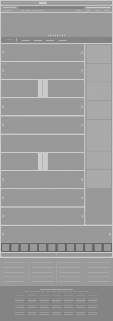 Current Amazon.com UX layout (wireframes)